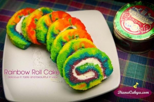RAINBOW ROLL CAKE  r